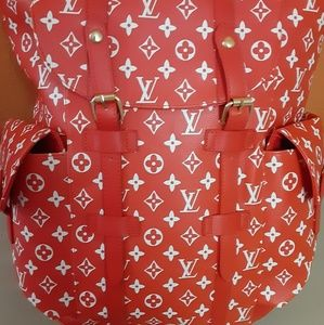 Louis Vuitton Monogram Red Backpack